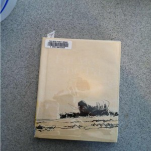 """This is """"For Ma and Pa on the Oregon Trail."""" The title is almost illegible but it's there."""